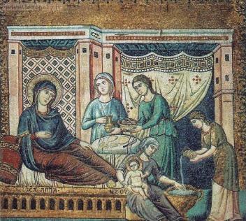 Pietro-Cavallini-Nativita-della-Vergine-1291-mosaico