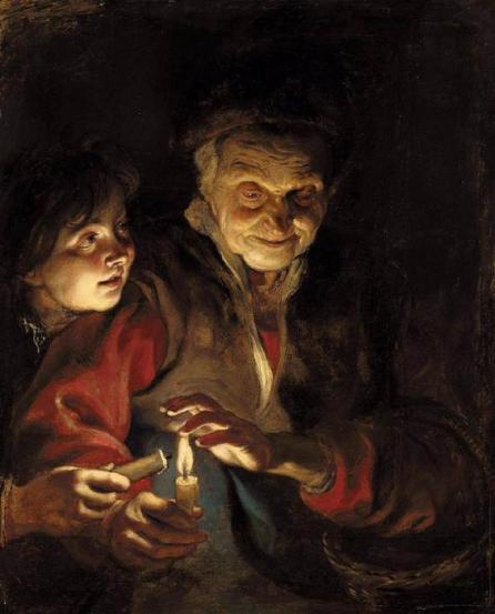 Rubens-vecchia-e-bambino-con-una-candela