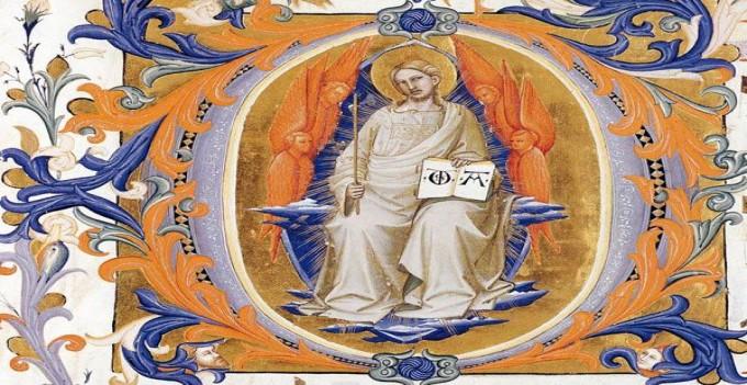 Miniatura_medievale_Cristo_Re_lettera